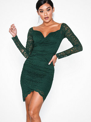 NLY One Wrap Lace Dress Grön