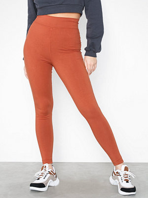 Missguided Cotton Full Length Legging Rust