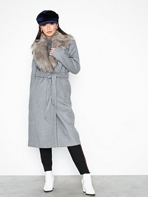 River Island Grey Robe Coat