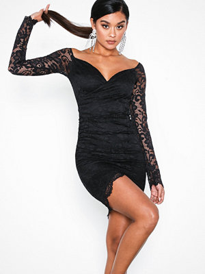 NLY One Wrap Lace Dress Svart