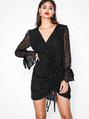 Glamorous Chiffon Spot Dress Black