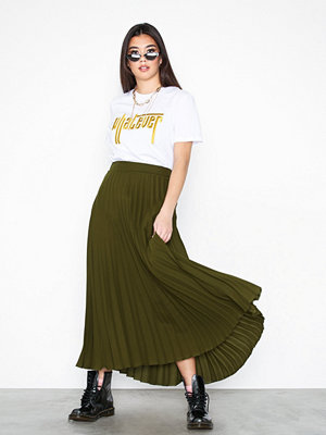 Kjolar - New Look Pleated Midi Skirt Khaki