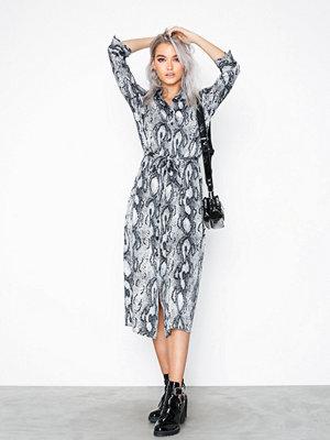 Only onlSNAKE 3/4 Shirt Dress Wvn Vit