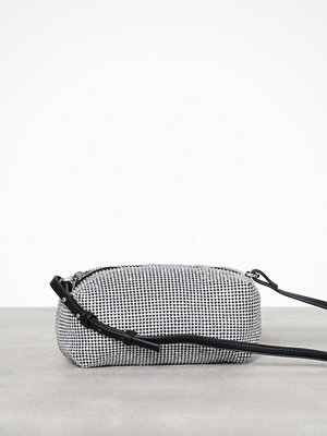 Topshop ljusgrå axelväska Chia Diamante Cross Body Bag