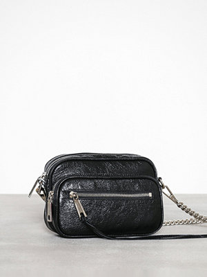 Rebecca Minkoff svart axelväska Solstice Camera Bag Distressed