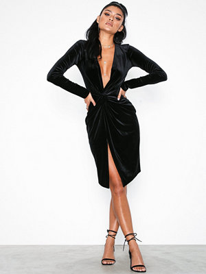 NLY One Low Plunge Velvet Dress
