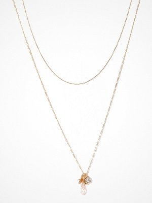 Only halsband onlHIRSE 2-Chain Necklace Acc Guld