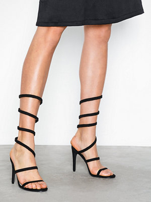 NLY Shoes Curled Ankle Strap Heel