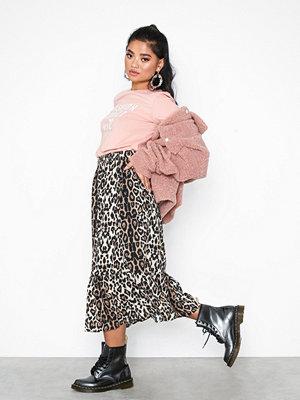 Only onlJADE Frill Skirt Wvn Ljus Brun