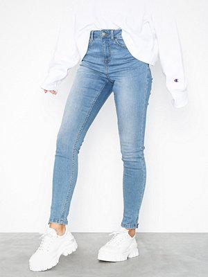 Noisy May Nmlexi Hw Skinny Ankzip Jeans VI883 Ljus Blå