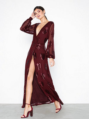 Festklänningar - Vila Vicher L/S Maxi Dress/Vta