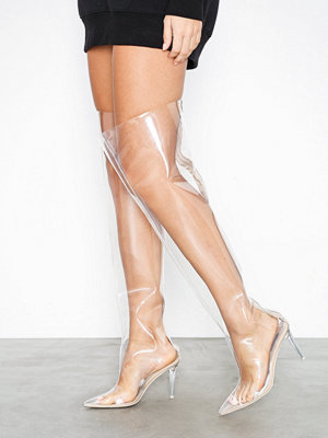 NLY Shoes Plastic Fantastic Knee High Boot Transparent