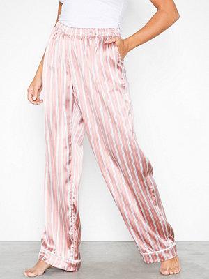 Topshop Blush Striped Trouses Blush