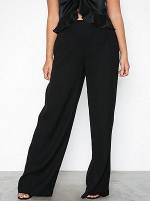Selected Femme svarta byxor Slftulla Mw Wide Pant B