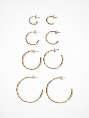 Only örhängen onlPAXA 4-Pack Hoop Earrings Acc Guld