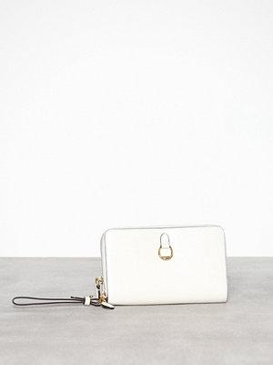 Lauren Ralph Lauren vit kuvertväska Dblzp Phn Wr-Wristlet-Medium Natural