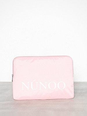 NuNoo cremefärgad datorväska med tryck Laptop Sleeve Sport Rosa