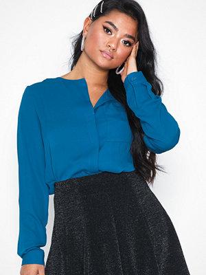 Selected Femme Slfdynella Ls Shirt Blå