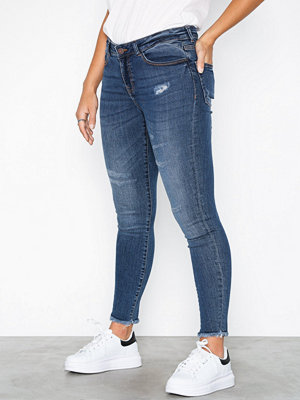 Noisy May Nmlucy Nw Skinny Ankle Des Jeans Az Blå