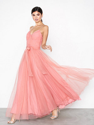 True Decadence Maxi Mesh Dress Pink Coral
