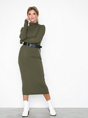 NLY Trend My Perfect Polo Midi Dress Mörk Grön