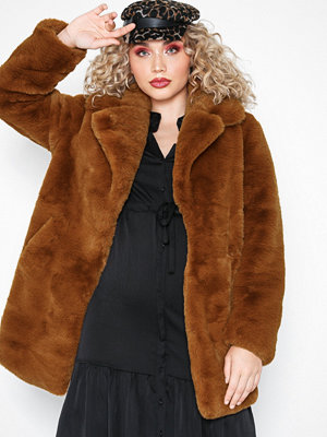River Island Cookie Plush Fur Coat