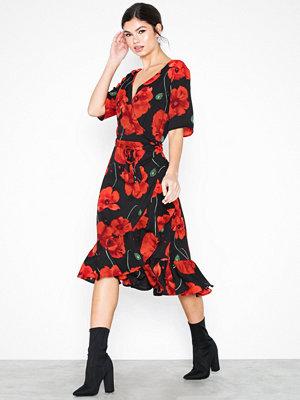 Jacqueline de Yong Jdyindie 2/4 Wrap Dress Wvn Svart