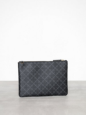By Malene Birger svart mönstrad kuvertväska Ivy Purse Charcoal