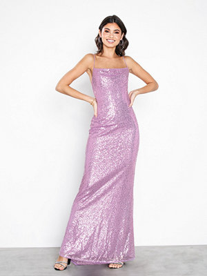 NLY Eve Sequin Mermaid Gown Ljus Lila