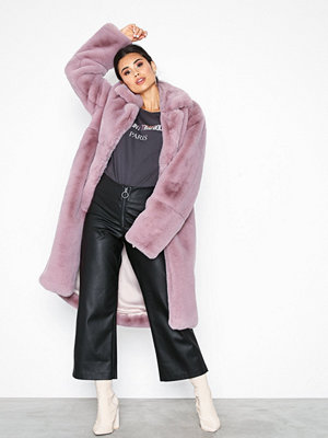 One Teaspoon Wild World Faux Fur Coat Pink