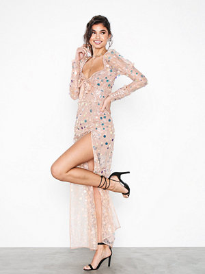 For Love & Lemons Ace Maxi Dress Beige