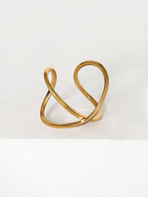 Cornelia Webb Slized Twisted Ring Guld