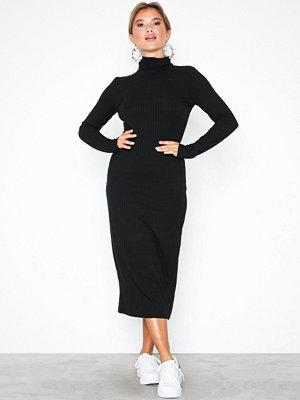 NLY Trend My Perfect Polo Midi Dress Svart