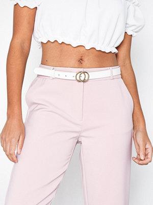 Pieces Pckarren Jeans Belt Vit