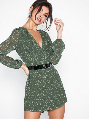 Glamorous Long Sleeve Dot Dress