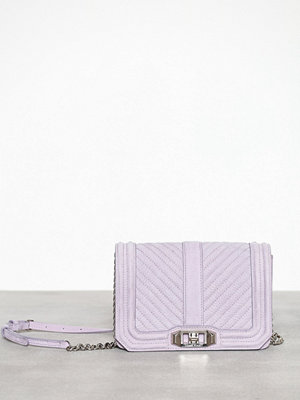 Rebecca Minkoff omönstrad axelväska Chevron Quilted Small Love Crossbody