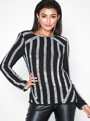 River Island Embellished Stripe Top