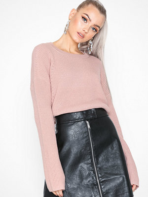 Tröjor - Pieces Pcmarie Ls O-Neck Knit Noos Rosa