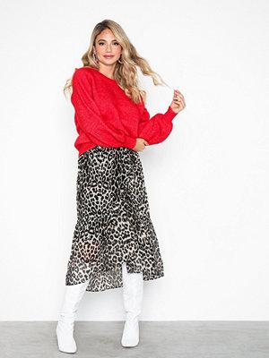 Kjolar - Pieces Pcmerle Mw Midi Skirt D2D Ljus Brun