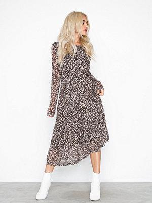Pieces Pcamelia Ls Mesh Dress Leopard