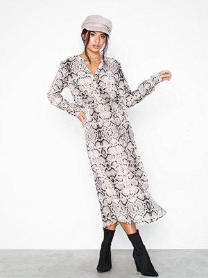 Jacqueline de Yong Jdysnakey L/S Long Dress Wvn