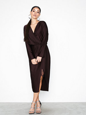 River Island Long Sleeve Waisted Dress