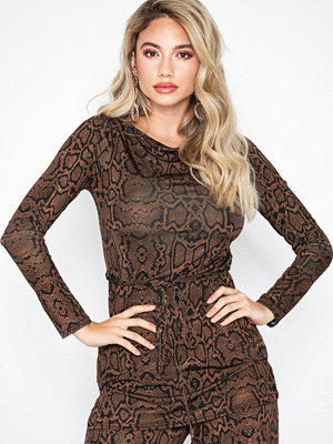 River Island Long Sleeve Snake Top