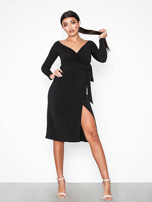 NLY One Wrap Bare Shoulder Dress