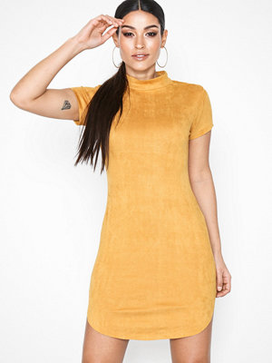 Ax Paris Short Sleeve Dress Mustard