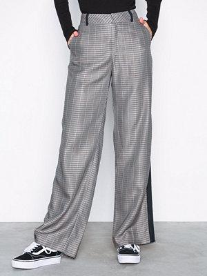 Gestuz ljusgrå rutiga byxor Callie pants