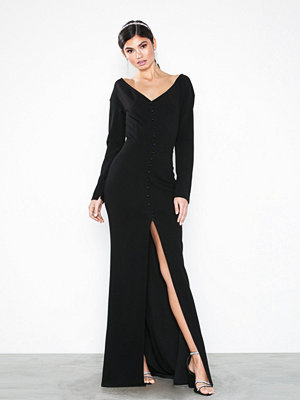 NLY Eve Button Down Gown Svart