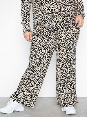 NLY Trend mönstrade byxor Contrast Pants Leopard