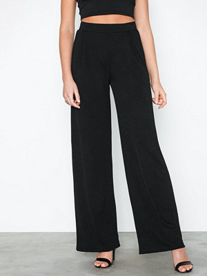 NLY Trend svarta byxor Tailored Wide Pants