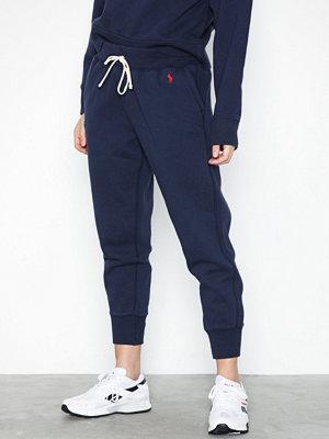 Polo Ralph Lauren marinblå byxor Sweatpant-Ankle-Pant